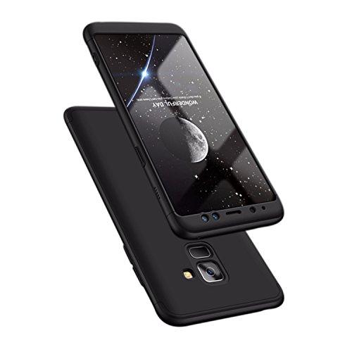 ATRAING Samsaung Galaxy A8 Plus case, A Trading Shockproof Thin Hard Case Cover for Samsung Galaxy A8 Plus(2018) (Black)