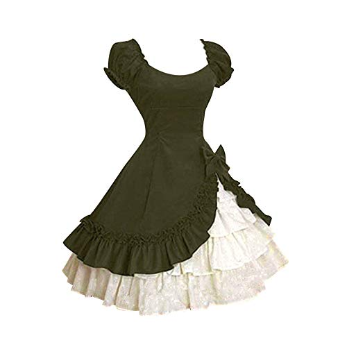 2e6878b2b12 koly Chic Manches Femme Costume Fête Médiéval Deguisement Robe Mascarade  Pin Up Volants À Dress Retro Soirée ...