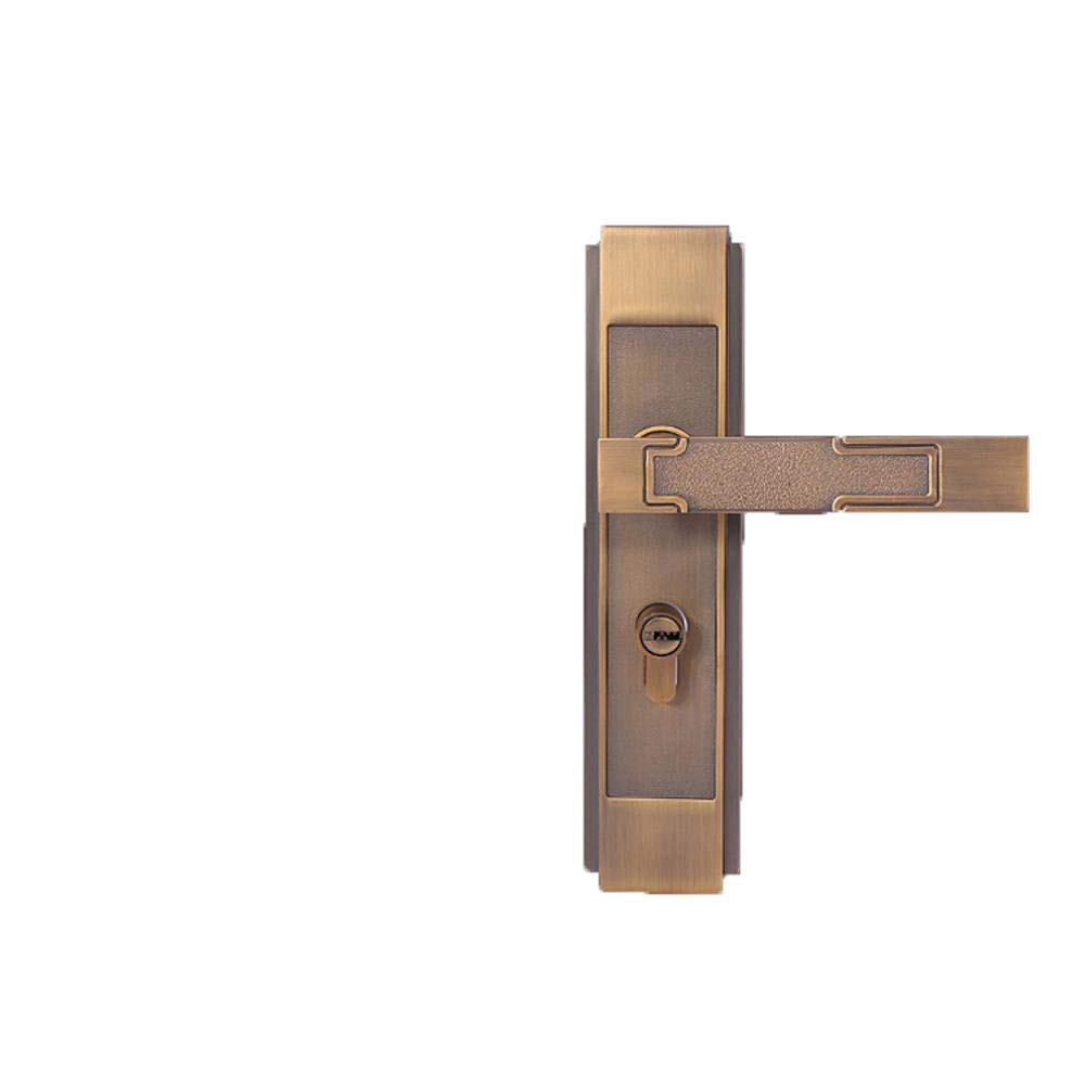 WY-Tong Door Handles Door Handle Indoor Bedroom Simple Mute zinc Alloy Solid Wood Door Handle 21018050mm