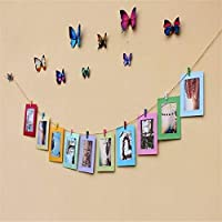 Hanging pic Frames with Wooden Clips Photo Frames Photo Frames for Walls Decoration Photo Frame Wall Hanging