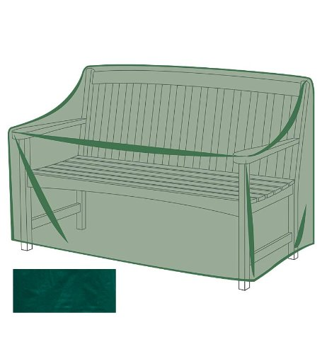 Outdoor Furniture All-Weather Cover for Bench, in Green by Plow & Hearth