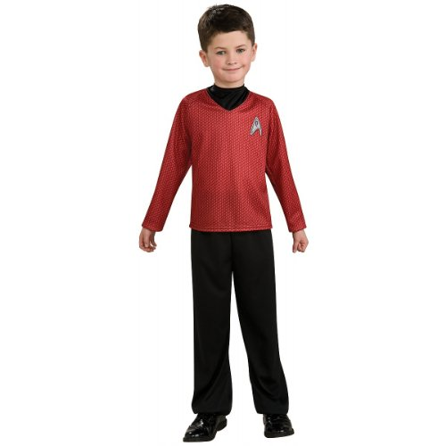 Star Trek Movie Child's Red Shirt Costume with Dickie and Pants, - Costume Trek 2009 Star