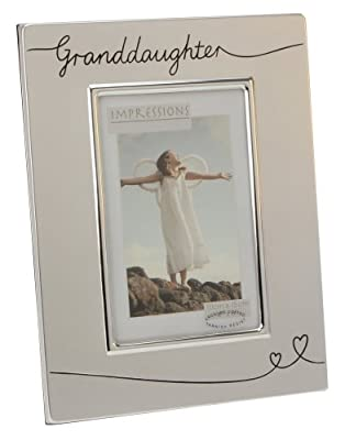 "Two Tone Silver Plated Granddaughter 4"" x 6"" Photo Frame by Haysom Interiors"