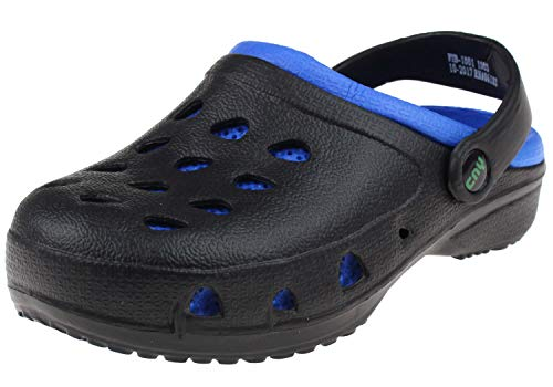 Capelli New York Toddler Boys Two Tone Clogs Black Royal Blue 4/5