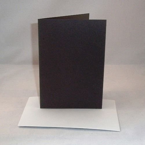 10 x A6 Black Card Blanks With White Envelopes Stella Crafts