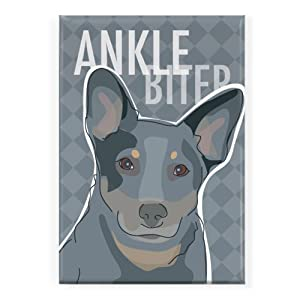 Pop Doggie Ankle Biter Cattle Dog Blue Heeler Fridge Magnet 1