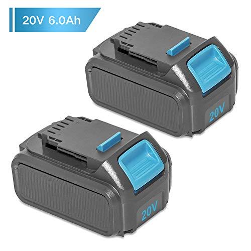 6.0Ah for Dewalt 20v Battery Replacement DCB207 DCB203 MAX Lithium ion XR DCB205 DCB201 DCB200 DCB1720 DCB204 DCB203 DCD985B Cordless Power Tools for Dewalt Batteries 20 Volt 6ah -2Packs