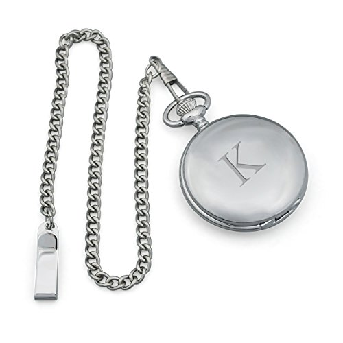 UPC 694546043692, Cathy's Concepts Personalized Silver-Plated Pocket Watch, Letter K