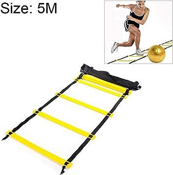 Juego Deportivo Artículos de Entrenamiento Gruesa Sección Pace Resistente, Durable Suave Escalera de Formación Football Wear Escalera de Cuerda Resistente (Amarillo / 5 Metros / 10 Nudos): Amazon.es: Deportes y aire libre
