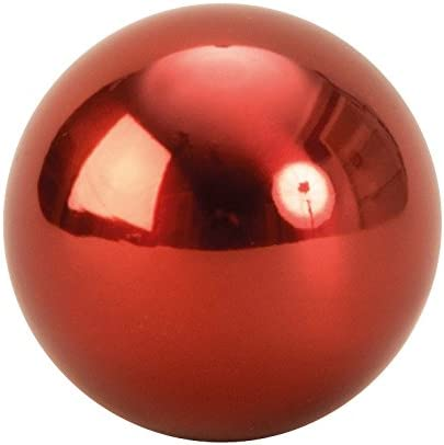 6 pieces modern decoration balls made of stainless steel in red diameter 6 cm