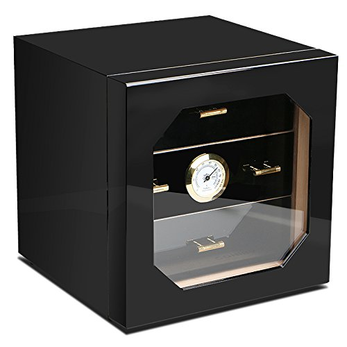 $85.00 cheap humidor Cedar Wood Cigar Cabinet Humidor,with 3 Layer Drawers Hygrometer and Humidifier,Increase The Flavor of Cigars 2019