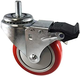 "Threaded Stem Caster 5/"" x 1-1//4/"" Ball Bearing. Polyurethane Wheel 1//2-13x1"