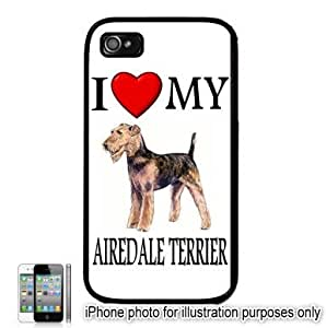Airedale Terrier I Love My Dog Apple iPhone 6 Plus 5.5 Case Cover Black