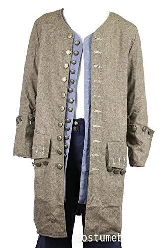 Exact Jack Sparrow Coat Pirate Costume Jacket M/L/XL (XL)