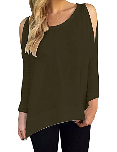 Allegrace Womens Shoulder Sleeve Fashion