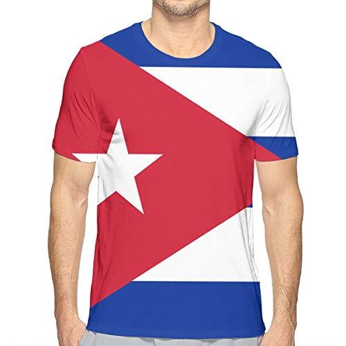 LEATHERS Cuba Flag Mens O-Neck Tee Shirt Sleeve Baseball Jersey - Baseball Jersey Cuba