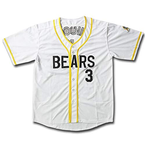 (Qimeijer Bad News Bears Leak #3 Boyle #12 Movie Baseball Jersey White Men Women Youth Kids Custom Design DIY Creative T-Shirt Embroidered (Leak 3,4XL) )