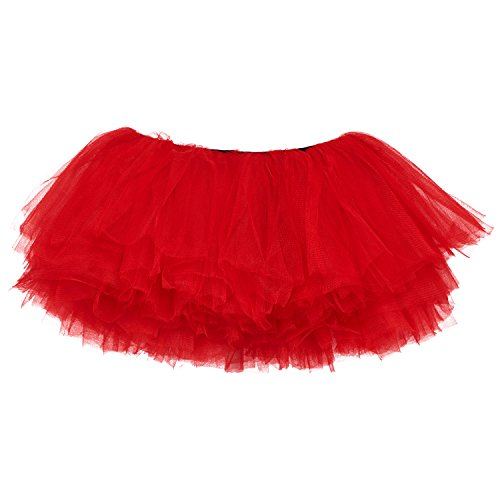 [My Lello Little Girls 10-Layer Short Ballet Tulle Tutu Skirt (4 mo. - 3T) -Red] (Red Tutu Kids)