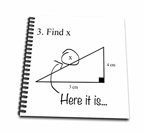 Price comparison product image 3dRose db_107310_2 Find X Here it is, Math Humor, School Humor, Funny, Geometry, Algebra-Memory Book, 12 by 12-Inch