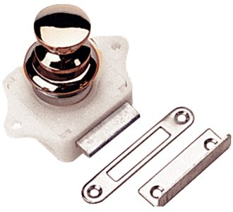 Sea Dog 224300-1 Push-Button Rim Latch, Chrome ()