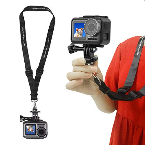 Sodoop 60cm Detachable Long Neck Strap Lanyards Sling for DJI Sports Osmo Action, Quick Release Safety Tether for GoPro HERO5 /4 Session /4/3+ /3/2 /1 & The Other Most SLR Cameras Binoculars (Black) ()