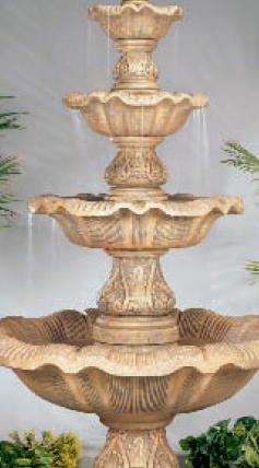 HENRI STUDIO Four Tier Renaissance Fountain