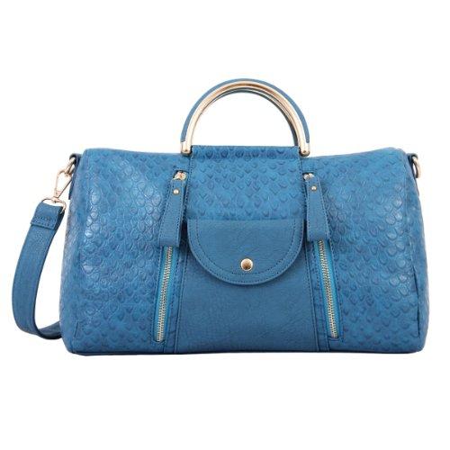 Celebrity Designer Inspired Trendy Satchel Handbag HB4364 (blue)