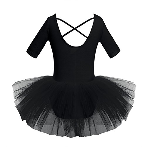 59d6038b1 CHICTRY Girls' Short Sleeves Back Detailing Ballet Tutu Leotard Skirt  Gymnastics Dance Outfit Clothes - Buy Online in Oman. | Sports Products in  Oman - See ...