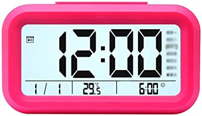 CHenXy 利用可能な室内熱湿度計、大画面、アラーム、日付表示、デジタル湿度計モニター、5色 湿度計温度計 (Color : Pink)