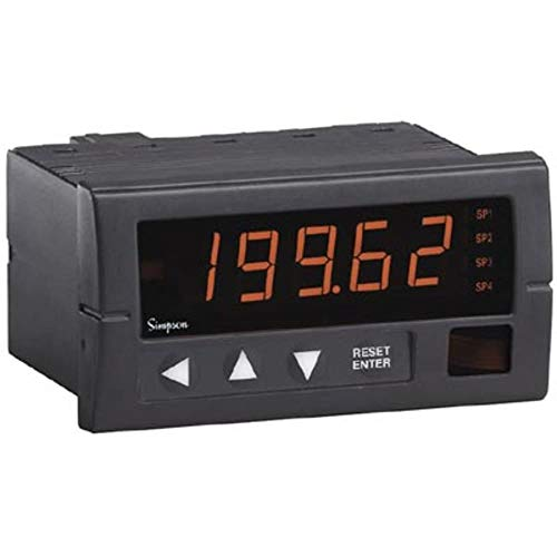 Digital Falcon Meter Panel - Panel Meter; Ammeter; Elec; LED; Range 20mA; Cut-Out 3.62x1.77