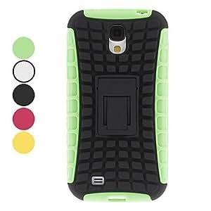 Teléfono Móvil Samsung - Fundas con Soporte - Patrón de Cuadrícula/Diseño Especial - para Samsung S4 I9500 ( Negro/Blanco/Verde/Amarillo/Rosa , , Green