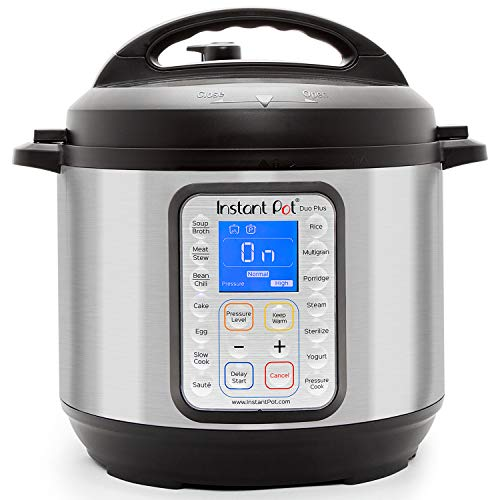 Instant Pot Duo Plus 9-in-1 Electric Pressure Cooker, Slow Cooker, Rice Cooker, Steamer, Saute, Yogurt Maker, and Warmer, 8 Quart, 15 One-Touch Programs