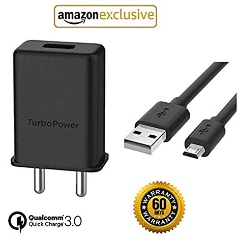 Epaqt™ Micro USB Turbo Power 3 0 Amp 25 W Turbo Mobile Charger Compatible  for All Motorola and All Android Phones - (Turbo Power Compatible)