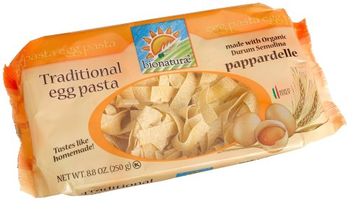 bionaturae With Organic Durum Semolina Pappardelle Egg Pasta, 8.8 Ounce Bags (Pack of 6) by Bionaturae (Image #1)