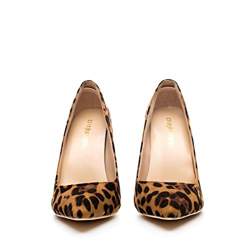 Women Heelswedding High heels Heel Shoes Dames High Schoenen Leopard VIVIOO Party 8Cm Height leopard Heels 10 12 Classical 8cm qvHnwH7fF