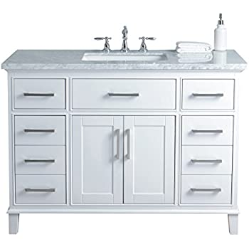 Stufurhome Hd 1475w 48 Cr 48 Inch White Leigh Single Sink