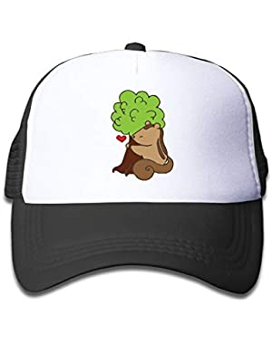 Squirrel and Tree On Boys and Girls Trucker Hat, Youth Toddler Mesh Hats Baseball Cap