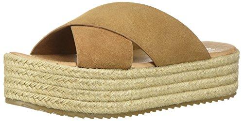(Coolway Women's Emma Espadrille Wedge Sandal Leather, tan 41 Medium EU (10-10.5 US))
