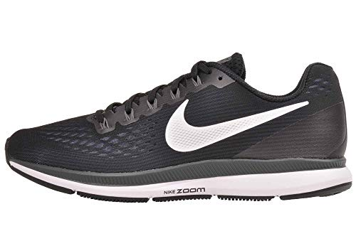 Nike Air Zoom Pegasus 34 Wide Womens Running Shoes, Black/White/Dark Grey/Anthracite, (8.5 W US) (Nike Women Running Shoes Fitsole)