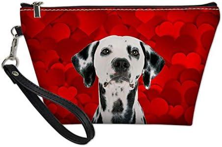 Bolso Cosmético De Las Mujeres Animales Perros Personalizados para El Estuche De Viaje De Las Señoras Bolso Cosmético F: Amazon.es: Equipaje