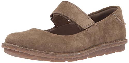 CLARKS Women's Tamitha Aster Mary Jane Flat, Olive Suede, 7 M US ()