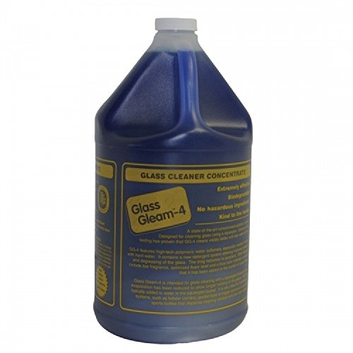Glass Gleam 4 - Glass and Window Cleaner - Highly Concentrated - 1 Gallon Makes 512 gallons of RTU - Glasses Iv