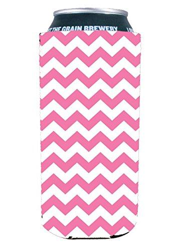 Chevron Stripe Pink 16 oz. (Pint) Can Coolie