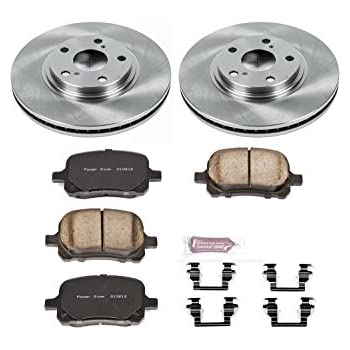 Powerstop Brake Disc and Pad Kits 2-Wheel Set Front New for Hummer H3 KOE3035