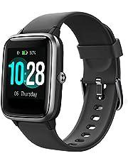 YAMAY Smartwatch Montre Fitness Homme Femme Smart Watch Fitness Tracker Cardiofréquencemètre Podomètre Montre Sport Étanche IP68 Chronomètre GPS Partage Smartband pour Android iOS
