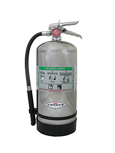 (Amerex B260, 6 Liter  Wet Chemical Class A K Fire Extinguisher, Ideal For