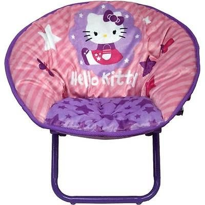 Hello Kitty Girls Sit Back Saucer Chair