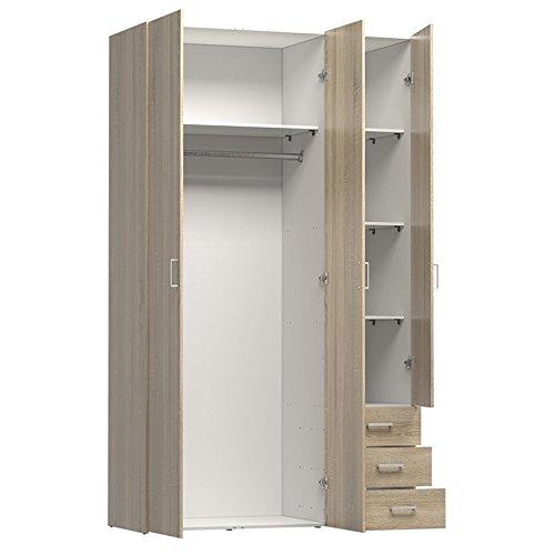 Tvilum 70409akak Space 3 Drawer & 3 Door Wardrobe Oak for sale  Delivered anywhere in USA
