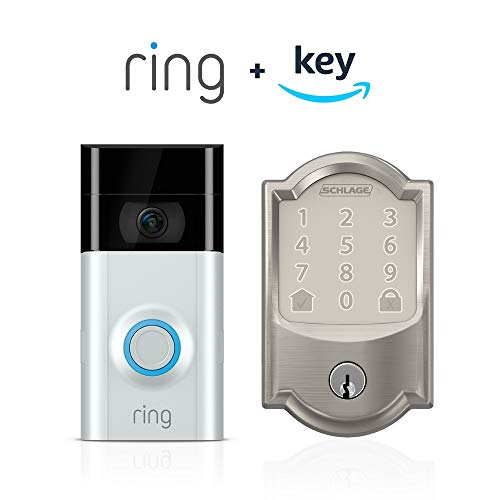 Ring Video Doorbell 2 + Schlage Encode Smart WiFi Deadbolt, Works with Key by Amazon