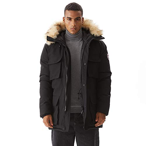 Where to find discovery goose down jacket men?